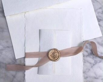 Wedding Invitation Package, Invitation Paper, Handmade Paper, Deckle Edge Paper, Deckle Edge, Wedding Invitations