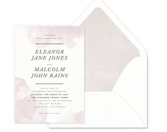 Dipped Ink Wedding Invitations