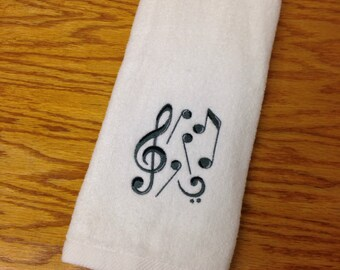 Music Note Bathroom Hand Towel