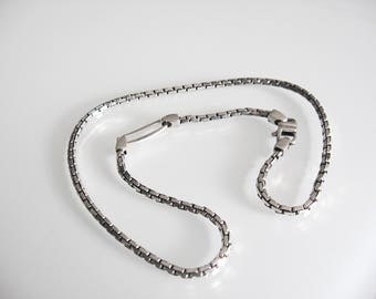 Silver 925 necklace, rhodium-plated, for him, silver necklace, gift, presents, Valentine's Day, Italy made
