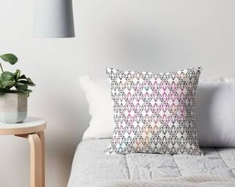 Throw Pillow - Diamonds Pillow - Decorative Pillow - Black and white Pillow - Decorative cushion - Geometric pillow - Diamond - Colorful