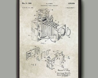 Camera Patent Print - Vintage Camera Wall Art Poster  - Camera Design Wall Art Poster - Photography Gift Idea - Gift For A Photographer
