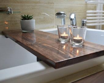 High Quality, Bathtub Caddy , Bathtub Shelf , Bathtub Tray , Rustic Bathroom Decor , Pine Wood , Bathroom Decor, Bath Tray, Custom