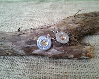 12 Gauge Remington, Wire Earrings - Single or Pair - Hand Made From real shotgun shells