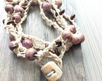 Hemp Crochet Necklace