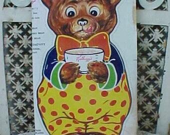 Adorable 1925 Kellogg's Advertising Cloth Doll Kit for Johnny Bear