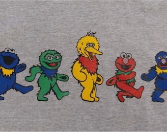 Grateful Dead Dancing Bears Sesame St. Tee - All Sizes S-3XL
