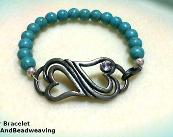 TURQUOISE CONNECTOR BRACELET
