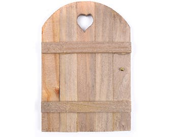 """Wooden Door with Gold Doorknob  - 6"""" x 4"""" - Miniature Fairy Garden Dollhouse"""