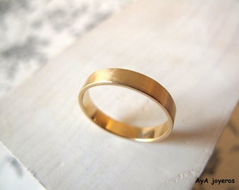 Golden Alliance. 18kt yellow gold. 4mm, engagement ring, yellow Gold alliance, wedding ring, Alliance, matte finish, made in two days