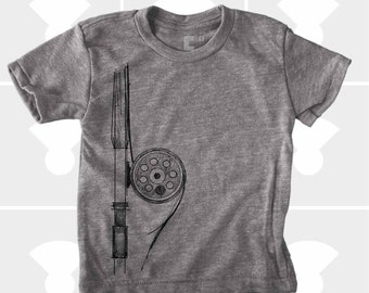 Fly Fishing Rod Shirt - Boys and Girls Unisex TShirt
