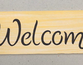 Yellow Welcome Sign
