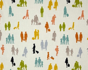 All Aboard Passengers on Cream From Birch Organic Fabric's Trans-Pacific Collection by Jay-Cyn Designs