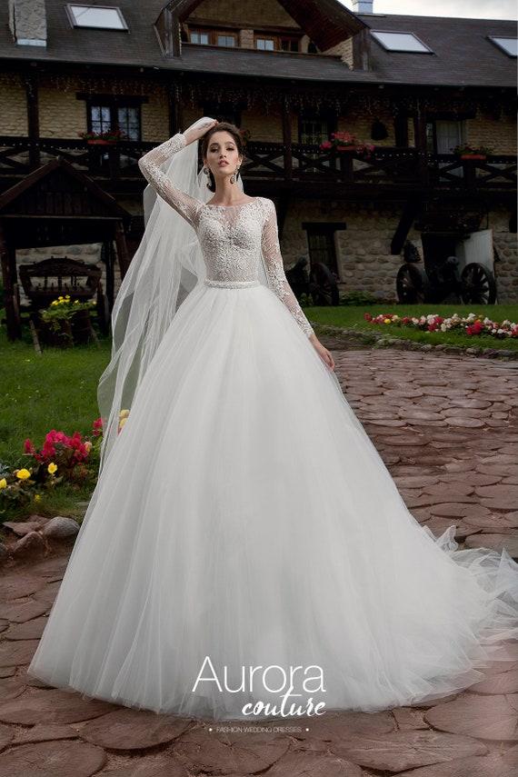 Hochzeitskleid TERESA langen Brautkleid Tüll Brautkleid