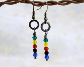 PTX inspired crystal earrings - PentaconEvent Fundraiser - Swarovski crystal earrings on a gunmetal ring - (Pre-order for July 27 delivery)