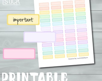 Planner Labels - Printable Stickers in Pastels for Erin Condren, Happy Planner and others!