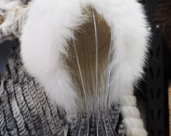 Winter White & Wonderful - A Gorgeous Elasticized Fur Hat - Stay Warm in Style