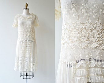 Catherinette dress | antique 1920s dress | lace 20s dress