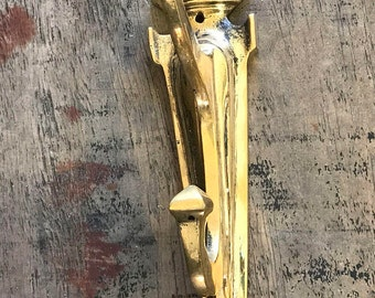 Vintage Large  Brass Hooks -  Salvaged from a Luxury Ship - Restored and Refurbished