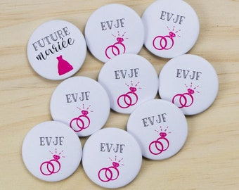 8 + 1 bride bachelorette party badges