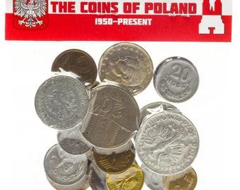 15 Poland Coins Mixed Lot of Grosz Grosze Groszy Zloty Zlote Zlotych Pre-Euro Currency