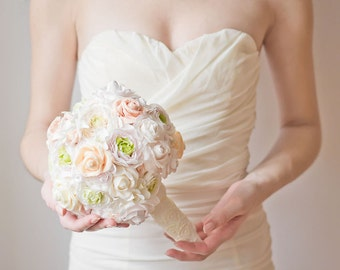 Alternative bouquet - bridal bouquet - wedding bouquet - bridal accessories - handmade flowers - alternative wedding - pastel wedding