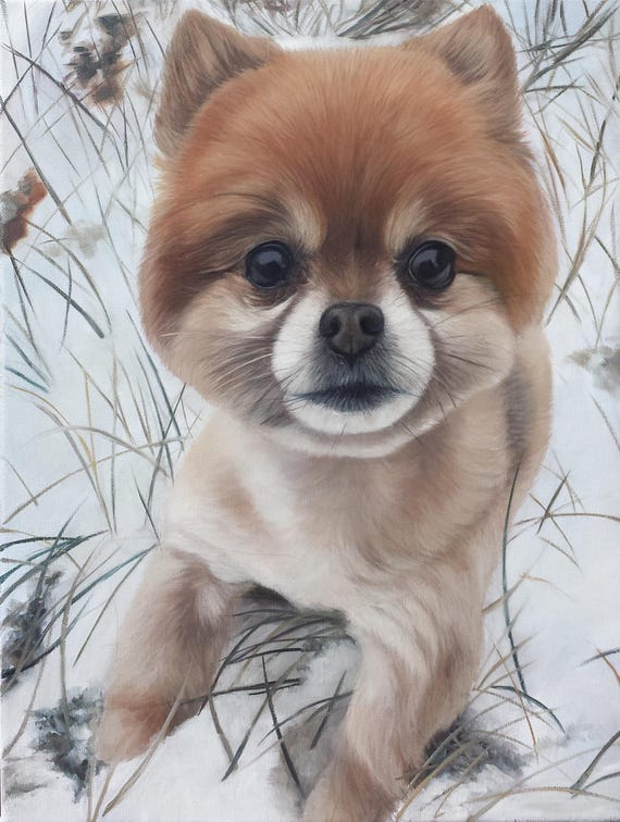 CUSTOM PET PORTRAIT - Oil Painting - Dog Painting - Pet Painting - Dog Art - Perfect Gift