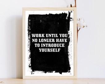Travailler dure impression / imprimable 8 x 10 / mur affiche imprimable / impression / motivation Téléchargement instantané / impression / affiche le succès office Print
