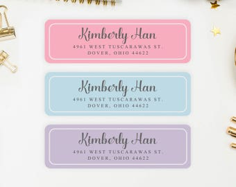 Address Labels / Shabby Chic Personalized Return Address Labels / Custom Address Labels / Address Sticker / Address Label Sticker / Kimberly