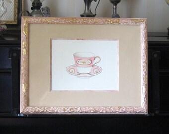 """Frame under glass """"porcelain cup"""""""