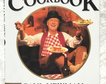 Newman's Own Cookbook|| vintage cookbook, Paul Newman, celebrity cookbook, first edition, collectible, celebrity recipes, Newman cookbook