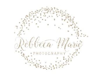 Premade Logo Calligraphy Logo Small Boutique Logo Sparkles Elegant Photography Logo and Watermark Design - Business Branding