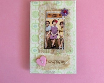 Believes In Love mixed media Gift Card Holder