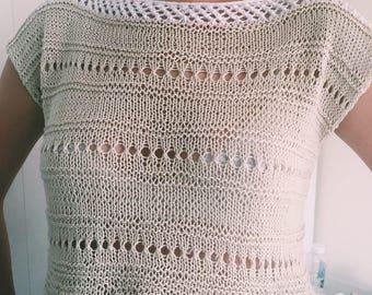 Lace top for summer / Летний кружевной топик