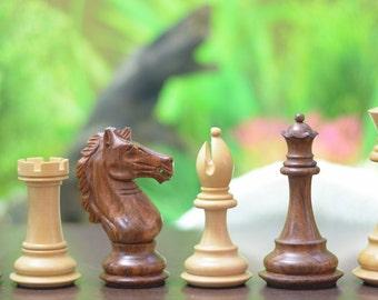 Handmade Weighted Staunton chess set Shesham Wood 4 Queens. SKU: M0087