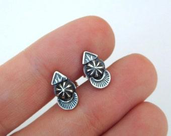 Silver studs | sterling post earrings | small silver earrings | sterling silver metalwork | second hole earrings