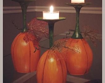 Pumpkin Patch, Set of 3 Candleholders