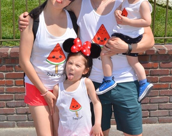 Très Cool Adults and Kids Tank Tops || Twinning || Matching Family Shirts || Watermelon || French Franglais || Very Cool || Kawaii Unisex