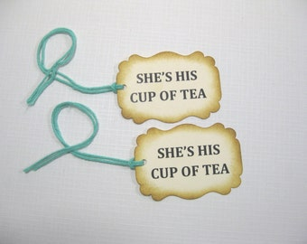 10 Bridal Shower Tags for Favors - Thank You Tags - Wedding Favor Tags - Tea Party Tags - Party Favor Tags