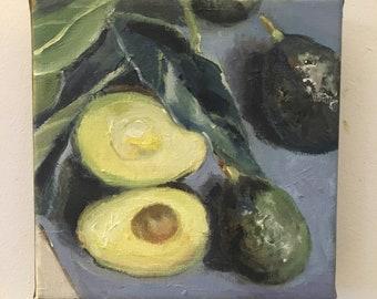 Ripe Avacados / Original Oil Painting