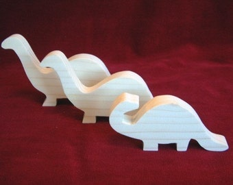 Brontosaurus (Thunder Lizard) Dino Family of Unfinished Pine Cutouts