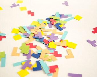 Tetris Inspired Colourful Confetti