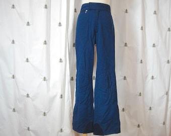 Vintage Ski Pants, Mid Century, Navy, by Olympian, Size 28R, Small, Men, Women, Unisex, Halloween, Cosplay, Dress Up