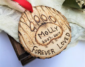 Pet memorial ornament, dog memorial ornament, cat memorial ornament, pet memorial gift, pet keepsake, pet loss gift, pet loss ornament