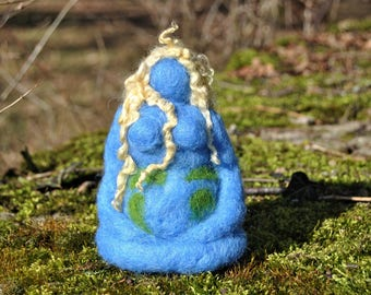 Gaia, Mother Earth, earth Mother, mother, Earth, wool, felt, needle felt, needle felted, spirituality, Nature religion