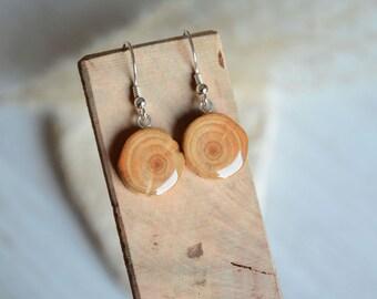 Natural wood dangle earrings, organic wood tree branch earrings, wooden nature earrings, woodland forest dangle earrings, minimalistic