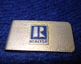 Realtor Money Clip Gold