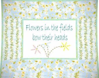 FLOWERS In The FIELDS --- Hand Embroidery E-Pattern Printable Download Pdf Diy Free Shipping White Blue Green Daisies Home Decor Easy To Do