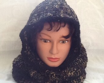 Adult camouflage hooded cowl