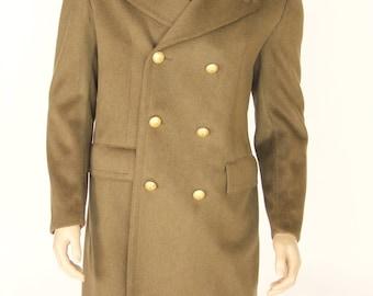 vintage military streeturban retro army Italian great coat